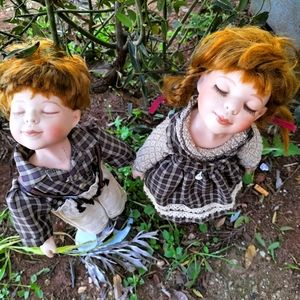 1860-1900  collectable rare pair ,kissing dolls